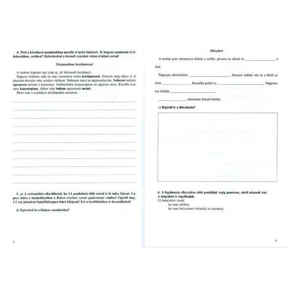 Fogalmazás - foglalkoztató 4. osztályosoknak