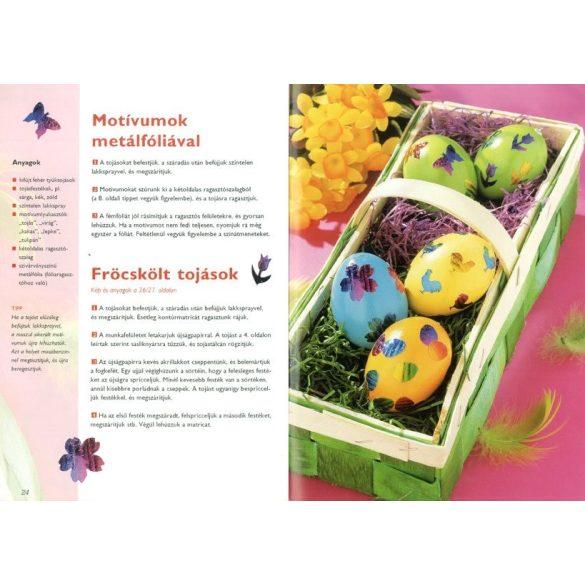 Szépen díszített húsvéti tojások