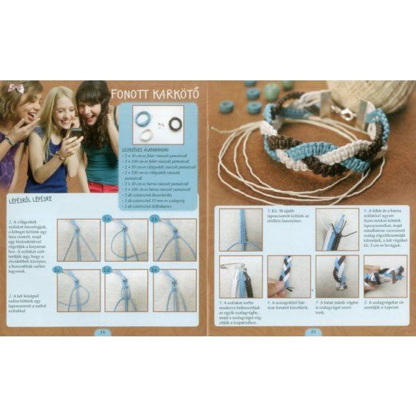 Makramé ékszerek        fülbevalók - nyakláncok - kulcstartó -   táskadísz  könnyen beszerezhető alapanyagokból - Katona Brigitta