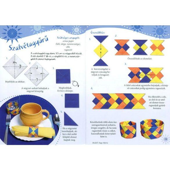 Origami lakásdíszek