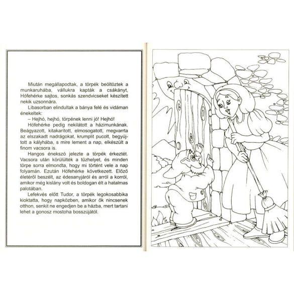 Hófehérke és a hét törpe - Hattyúk tava kifestő