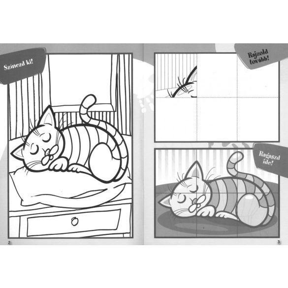 Ügyes kezek: Macskák - Matricás színező