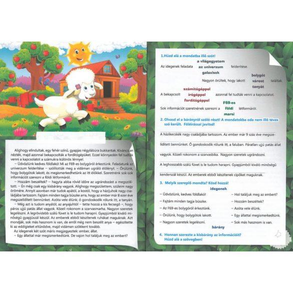 Szövegértési feladatok - A tanyán matricákkal