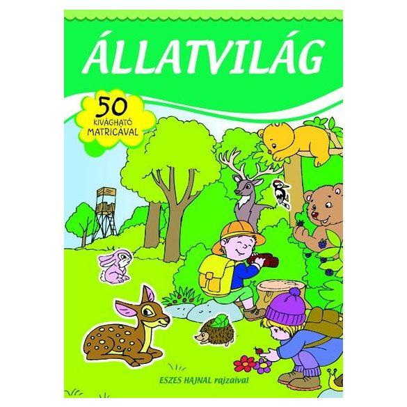 Állatvilág - matricás füzet