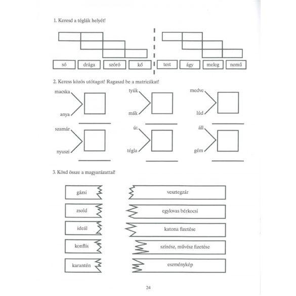 Feleselő nyelvművelő 4.osztályosoknak-170 matricával