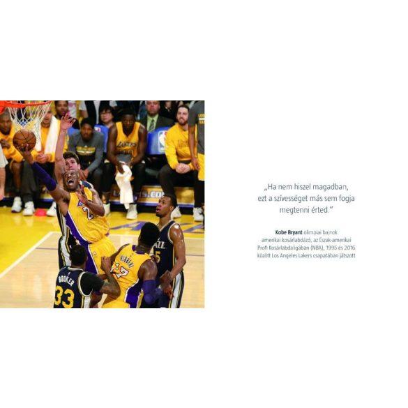 A bajnok benned él  -   Képekkel,  idézetekkel ellátott színes motivációs könyv