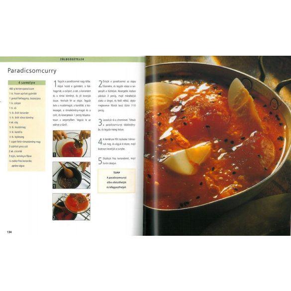 Indiai konyha-ellenállhatatlan finomságok lépésről lépésre  / Szállítási sérült /
