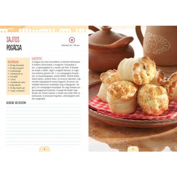 Pogácsák, aprósütemények - válogatott receptek, jegyzetelhető oldalak