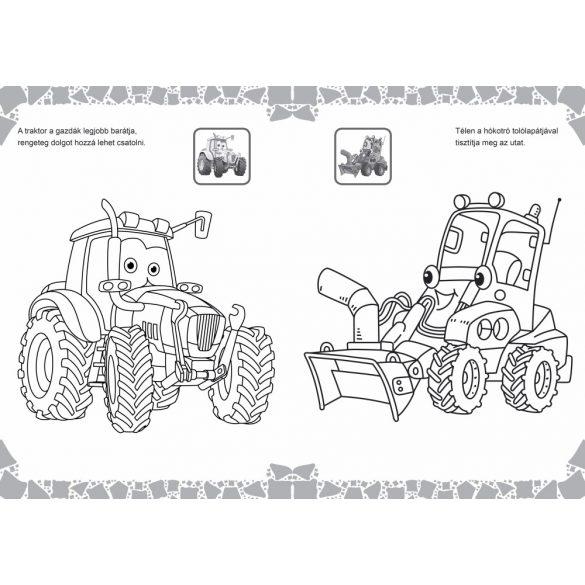 Traktorka és barátai kifestő