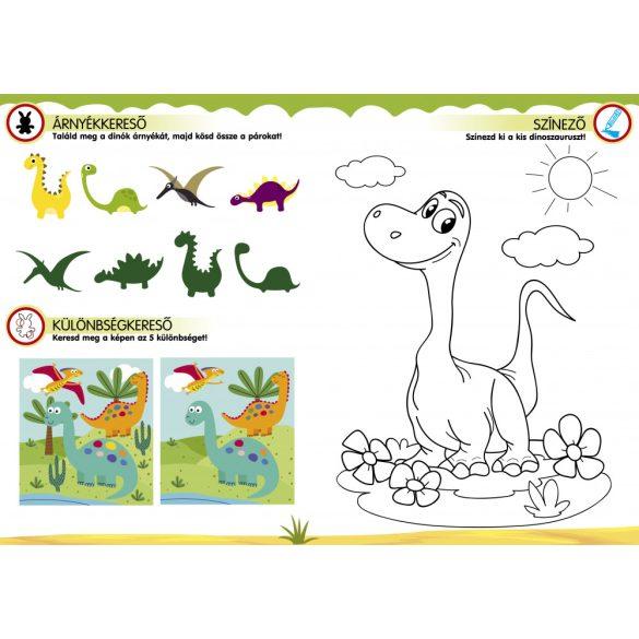 Mókás dinoszauruszok-Játékos foglalkoztató társasjátékkal