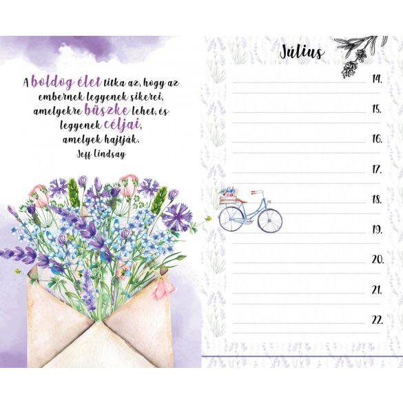 Ha valaki szeret egy virágot - Inspirációs jegyzetfüzet, öröknaptár