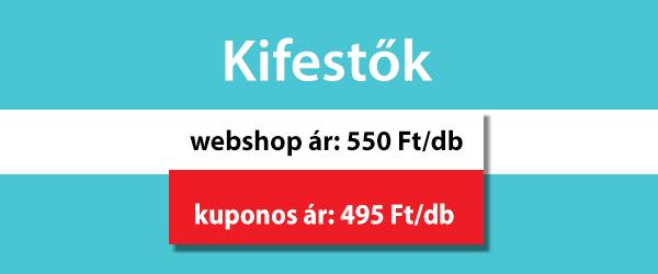 Kifestők, webshop ár: 550 Ft/db, kuponos ár: 495 Ft/db