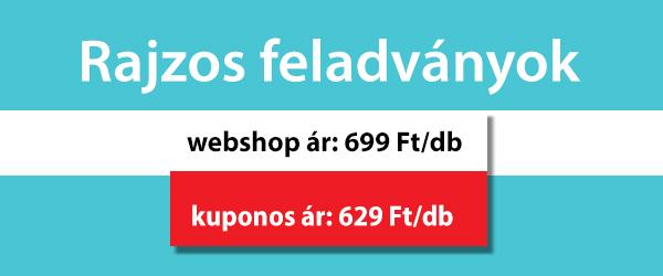 Rajzos feladványok, webshop ár: 699 Ft/db, kuponos ár: 629 Ft/db